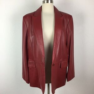 Vintage Valerie Separates Red Leather Jacket XL